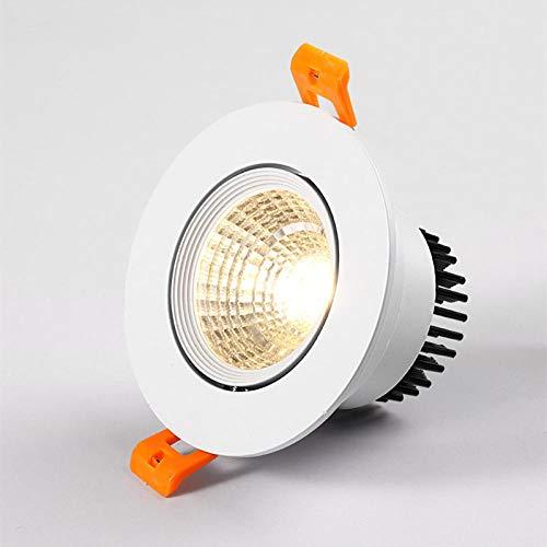 Downlight LED empotrable superbrillante COB 3W 5W 7W 12W Lámpara de techo decorativa LED-Cold_white_5W