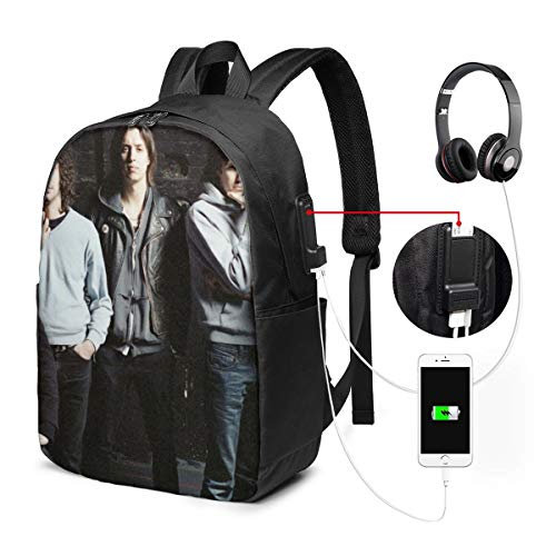NA Business Travel Anti Theft Backpack Travel, Work, School, Laptop Backpack, Men's and Women's - Black USB Backpack 17 in