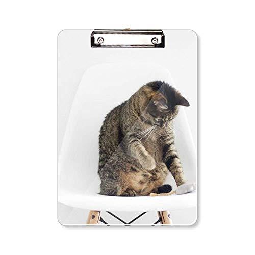 Animal Grappige Actie Kat Schieten Klembord Folder Schrijven Pad Backing Plate A4