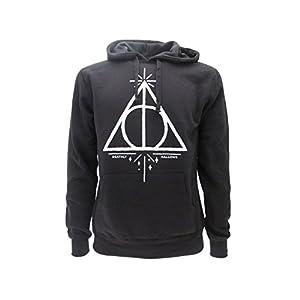 Harry Potter Sudadera con Capucha Hoodie Simbolo de Las Reliquias DE LA Muerte - 100% Oficial Warner Bros (L Large) 21