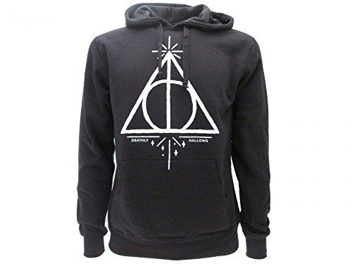 Harry Potter Sudadera con Capucha Hoodie Simbolo de Las Reliquias DE LA Muerte - 100% Oficial Warner Bros (L Large)