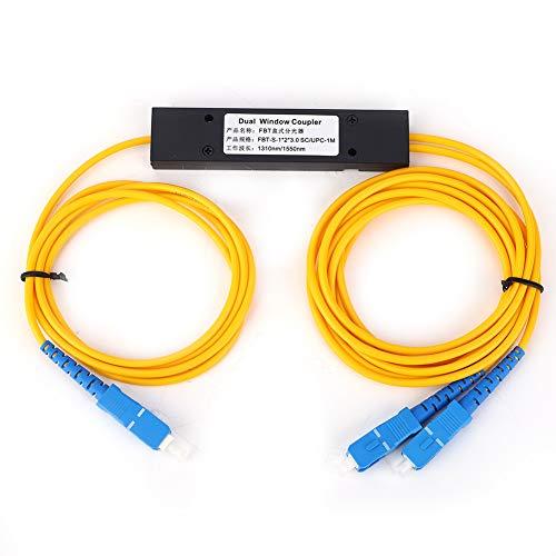 Ladieshow Singlemode Fiber Optic Splitter 1x2 FBT Splitter with SC/UPC...