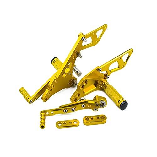 Machine Pedal de Motocicleta Juego De Reposapiés De Reposapiés Ajustables para Su-zuki GSX-R1000 GSXR1000 2009-2014 (Color : B)