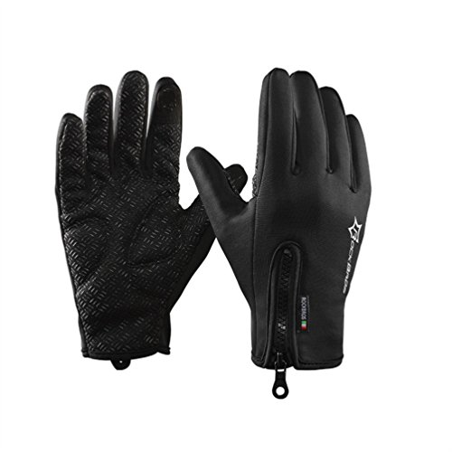 ROCKBROS Men Winter Gloves Windproof Thermal Cold Weather Gloves Touch Screen Cycling Glove