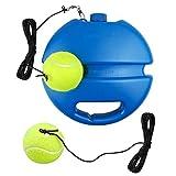 Entrenador de tenis, Equipo de entrenamiento de Tenis, con 2 Bolas de Rebote y Zócalo Antideslizante Cuerda Antienredos Para Adultos y Niños Principiantes