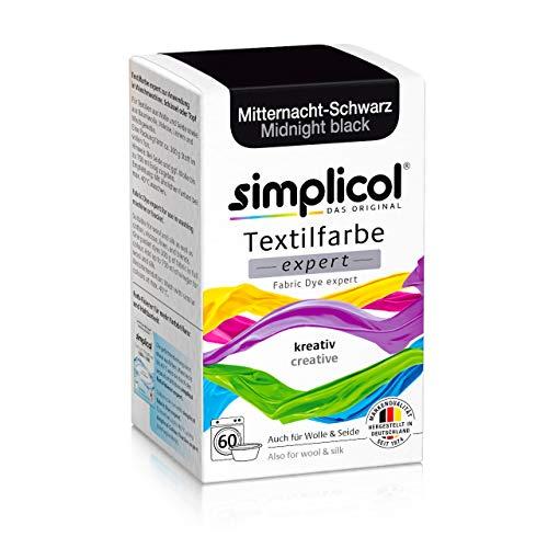 Simplicol Textilfarbe expert Mitternacht-Schwarz 1718: Farbe für kreatives, einfaches Färben in der Waschmaschine oder manuell