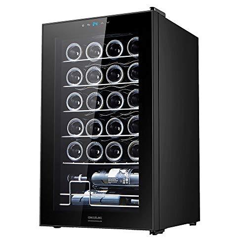 Cecotec Vinoteca GrandSommelier 24000 Black Compressor. 24 Botellas, Compresor, Alto Rendimiento garantizado, Temperatura Regulable, Clase de eficiencia energética B