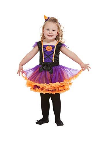 SMIFFYS 50795T1 - Costume da strega a zucca, per bambine, colore: arancione, età 1-2 anni
