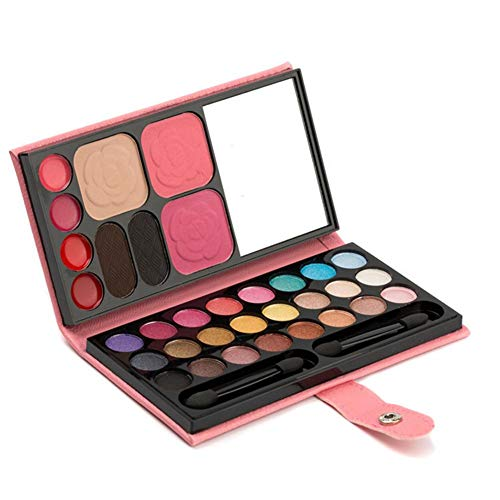 Wovemster 33 Farben Lidschatten-Palette Kombinationsset, Blush Lipstick Pressed Powder Eyebrow Puder...