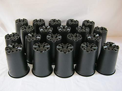 The Flowerpot Men 20 X 3L Deep Rose Economy Plastic Plant Pots