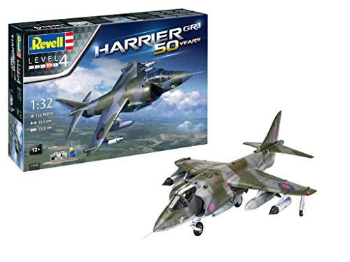 Revell RV05690 05690 5690 Hawker Harrier GR Mk.1 Geschenkset Kunststoff-Modellbausatz, mehrfarbig, 1:32