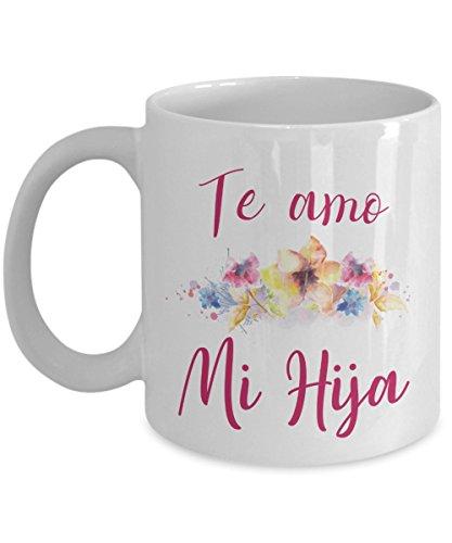 Regalo para mi Hija Amo a mi Hija Taza con Flores para Mama mug Dia de las Madres