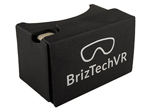 Google Cardboard v2.0 (Black Version) Virtual Reality Headset - Featuring Capacitive Touch Button Compatible With iPhone and Android
