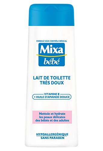 Mixa Bébé Lait de Toilette Très Doux Vitamine E + Huile d?Amande Douce 250ml (lot de
