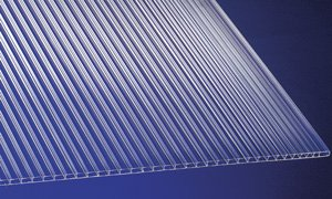 Polycarbonat Universal Stegplatten für Gewächshäuser klar 1500 x 700 x 4,5 mm