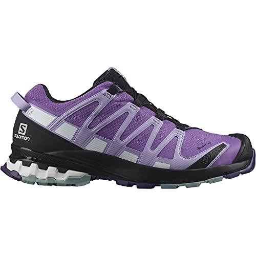 Salomon XA Pro 3D V8 Gore-Tex (impermeable) Mujer Zapatos de trail running, Violeta (Royal Lilac/Lavender/Slate), 36 2/3 EU