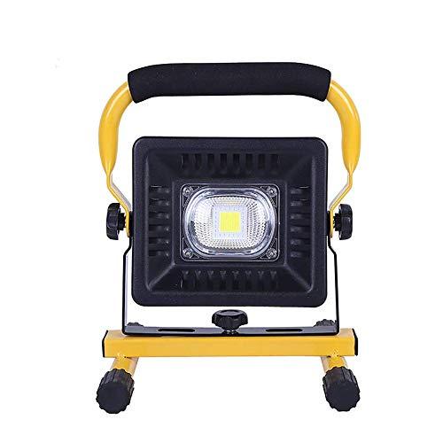 JIADUOBAO Luz de trabajo LED, 4 modos de brillo, luces de inundación impermeables con soporte para taller, sitio de construcción, luz blanca 6000K