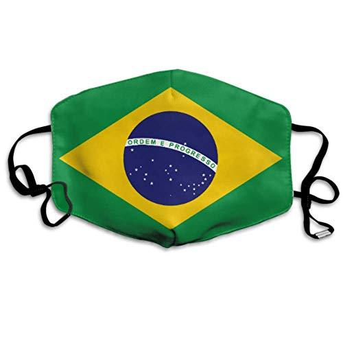 Brasilien Flagge Format Abdeckung Mundabdeckung Mundabdeckung Staubabdeckung