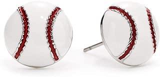 Baseball Enamel Post Earrings Nickel Free Mom Fan Gift