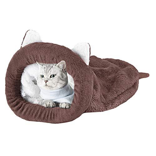 Cama para Mascotas Saco de Dormir Acogedor Saco de Acurrucarse Cubierto para Gatos Cachorros Animales Pequeños 1Pcs
