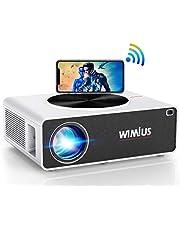 "5G WiFi Beamer, WiMiUS 7500 1080P Full HD Beamer Unterstützung 4K Led Video Beamer 300"" Display Kompatibel mit Fire Stick, PS5, Smartphone Projektor"