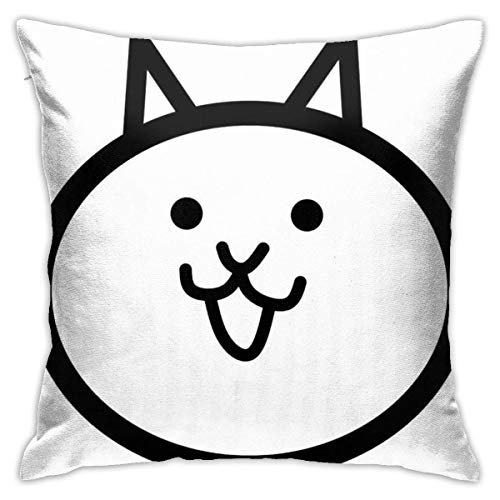 Ahdyr Battle Cat Cushion Throw Pillow Cover Decorative Pillow Case For Sofa Bedroom 18 X 18 Inch