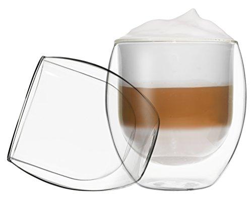 DUOS 2x 410ml Jumbo doppelwandige Thermo Gläser mit Schwebe-Effekt, Cocktails