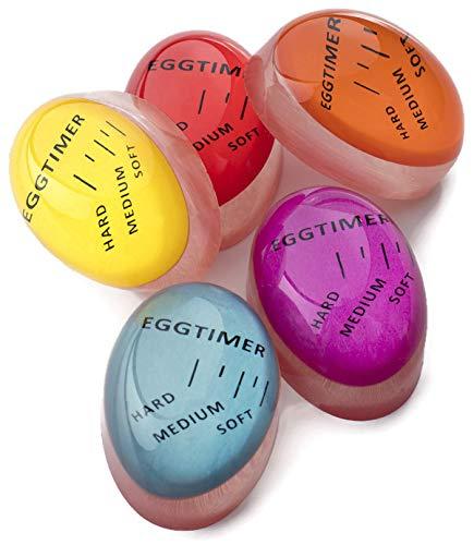 Thometzki 2 x Egg Timer Wärmeempfindliche Eieruhr Perfekt Gekochte Eier