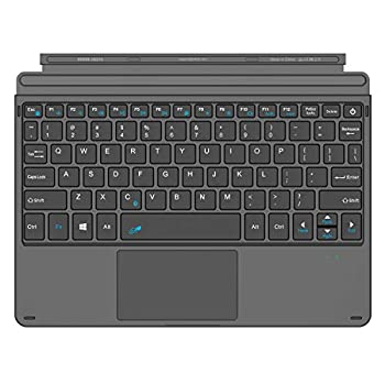 Arteck Microsoft Surface Go Type Cover Ultra-Slim Portable Bluetooth Wireless Keyboard with Touchpad for Surface Go 2  2020  and Surface Go Built-in Rechargeable Battery