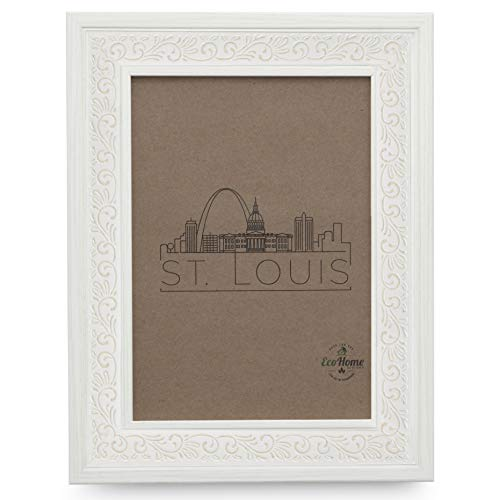 8x10 White Picture Frame - Mount Desktop Display, Frames by EcoHome