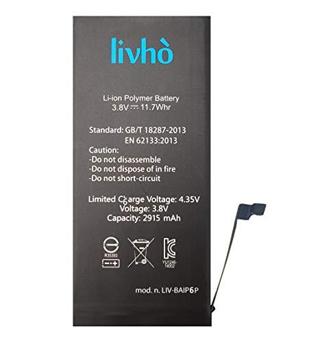 livhò Batteria di ricambio compatibile con iPhone 6 Plus Capacità 2915 mAh | NO cicli di ricarica |