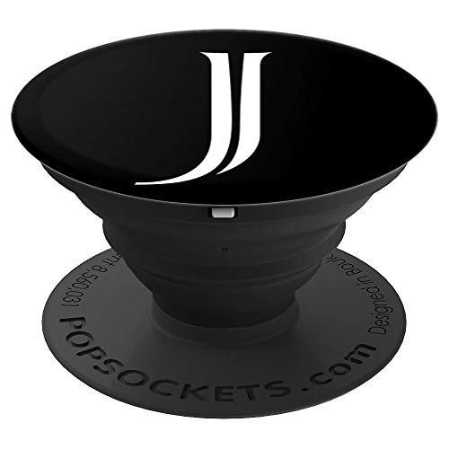 Letter J Initial Gift Original Design Block Font Monogram J PopSockets Grip and Stand for Phones and Tablets