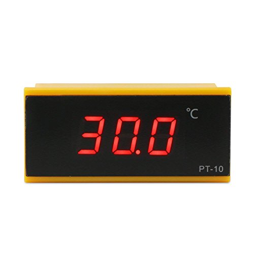Droking DC 12V Temperaturfühler-50~120 ° c Digital-Display Thermometer hochpräzise LED-Temperatur-Messgerät mit Sensor-Sonde für Kfz-Kühlschrank/Impfstoff Box/Medizin Box