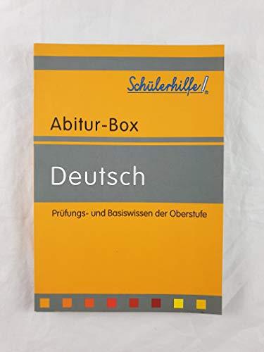 Abitur-Box - Deutsch - Prüfungs- und Basiswissen der Oberstufe