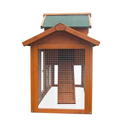 Hasenstall Kaninchenstall Kaninchen-Käfig Hasen-Käfig Kleintier-Stall Freilauf Kleintierkäfig - 5