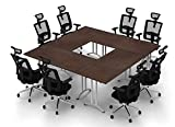Conference Tables Meeting Tables Seminar Tables Compact Space Maximum Collaboration Model 4469 4pc Group Color Java Commercial Grade Ready to Unfold and Use (Chairs NOT Included).