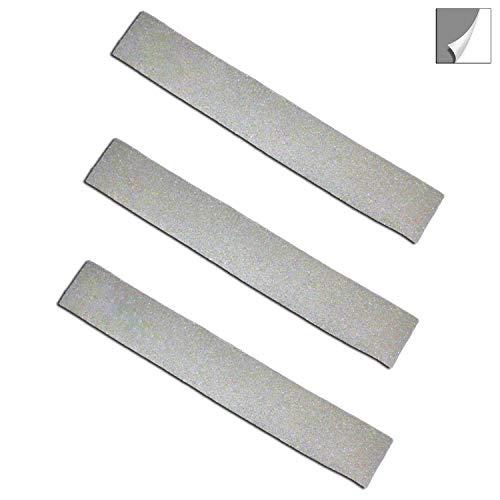Folius 3 Reflexstreifen/Reflektorstreifen zum Aufkleben je 12,5 cm, reflektierendes Gewebeband selbstklebend