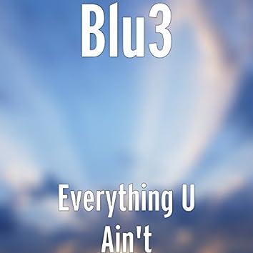 Everything U Ain't