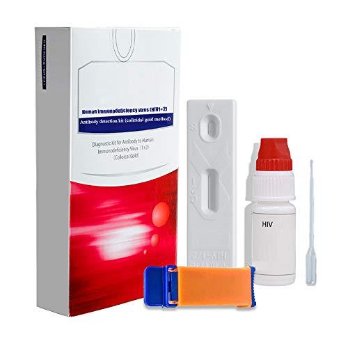 SHANG Infección por VIH, Kit de Prueba en el hogar para verificar rápidamente la Saliva y Las ayudas sanguíneas Prueba automática Combinación de Prueba en el hogar con certificación CE,1 Blood Test