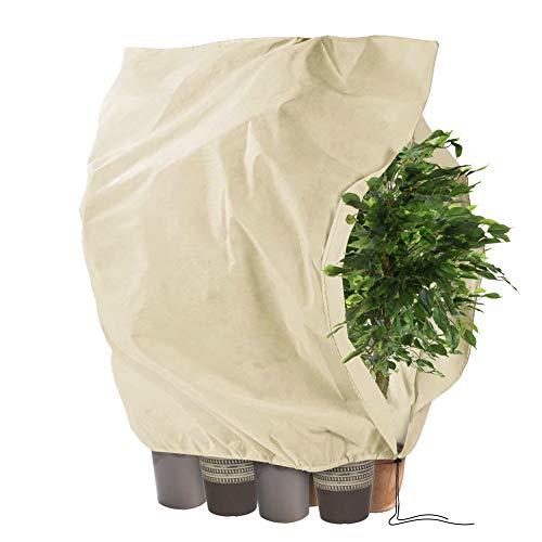 Tesmotor Pflanzenschutzhauben, Winterschutz Kübelpflanzensack Frostschutz Schutzhaube mit Zugband - 240 x 200CM