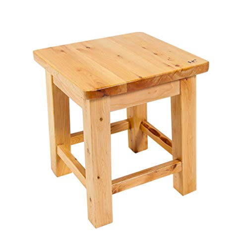 HYY-YY Shower/Bathroom Stool Wooden Shower Seat Stool Wooden Chair Replacement Stool Old Man/Disabled Skid Heavy Shower Seat Shower/Bathroom Maximum Weight 250 Kg