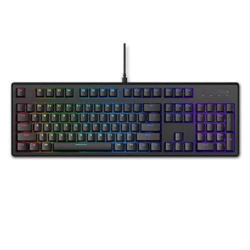 Allamp Mechanische Tastatur Roter Schalter RGB Hintergrundbeleuchtung Bluetooth Wired Mechanical Gaming...