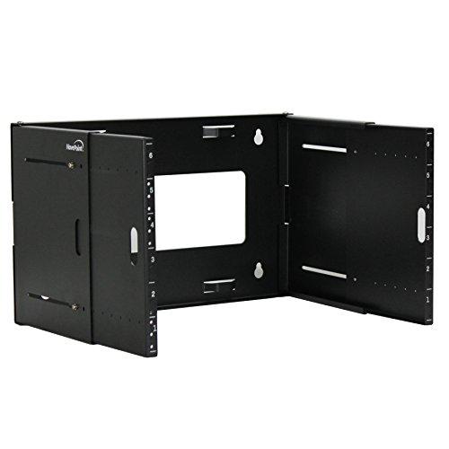 NavePoint 6U Wall Mount Bracket Extendable Network Equipment Rack Threaded Standard 19 Inch