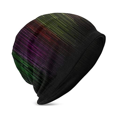 Opiadco Gorro de Punto con patrón de línea de Arco Iris, Gorro cálido de Invierno para niño y niña