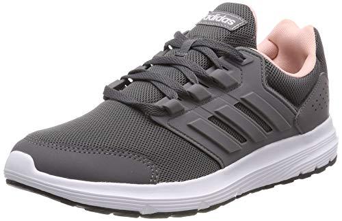 adidas Damen Galaxy 4 Laufschuhe, Grau (Grey/Grey/Footwear White 0), 37 1/3 EU