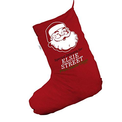 Personalised Santa Face consegna Jumbo rosso 'calza di Natale sacchetto regalo