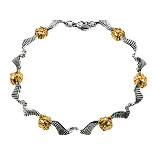 Harry Potter Offizielles Lizenziertes Sterling Silber Quidditch Goldenes Snitch Armband