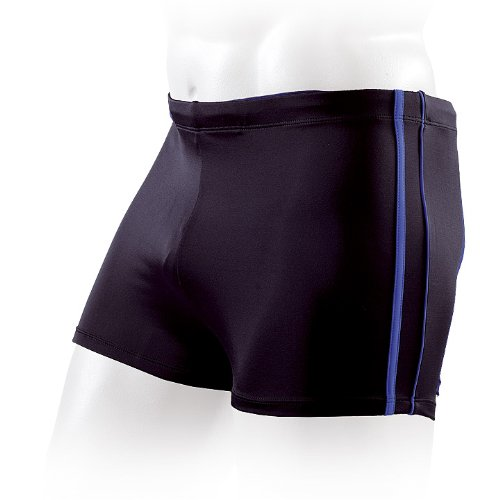 Fashy 24008_01 Boxer de Bain pour Homme Noir Noir/Bleu 6