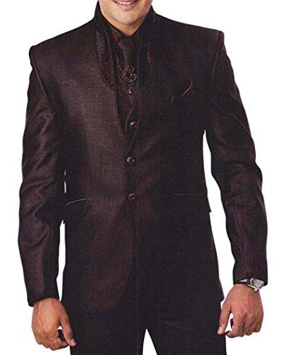 INMONARCH Hommes marron Costume smoking élégant 7 Pc TX904R36 46 (hauteur 171 cm a 180 cm) Marron