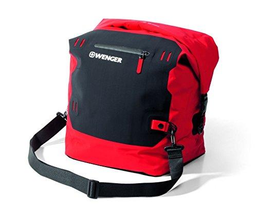Wenger Dry Bag Flims L23.1037.02 Sac étanche avec sangle de transport pour kayak, randonnée, camping, ski, natation, plage, cyclisme et sports nautiques Unisexe Rouge 38 l
